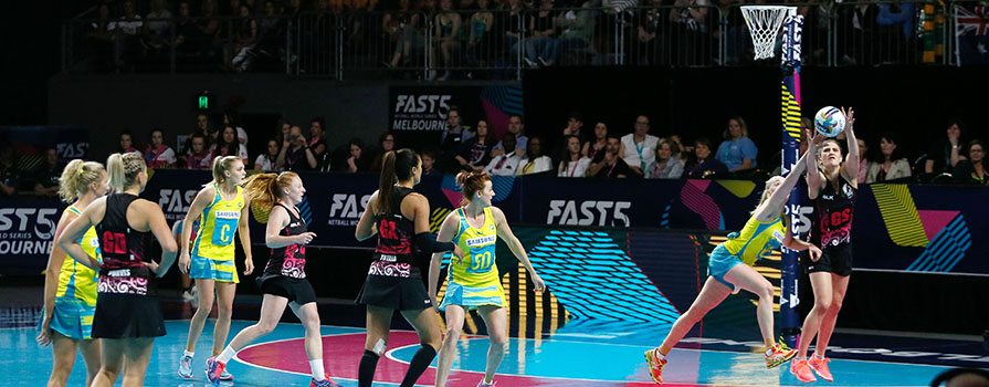 2016 Fast 5 Netball World Series Game 4 Aus v New Zealand