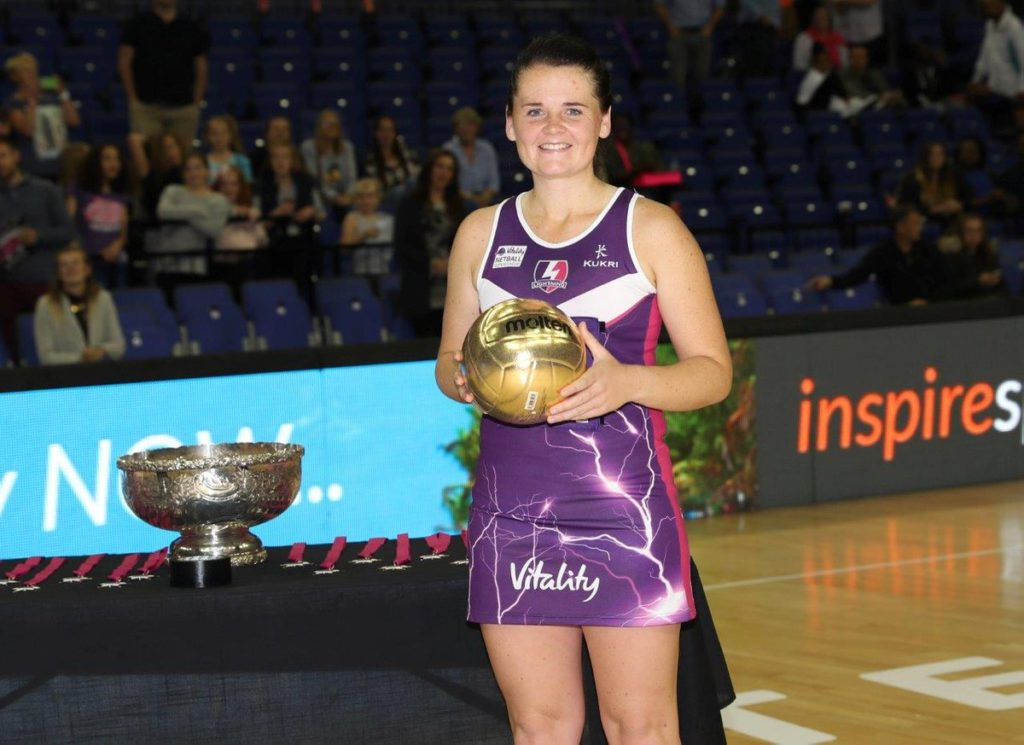 Stoltz, with the Golden Ball during Fast5 British All Stars competition